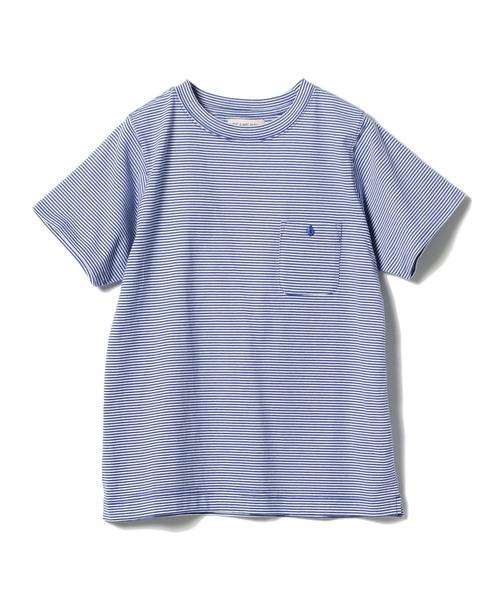 BEAMS BOY / ミジンコ ボーダー ポケット Tシャツ 19