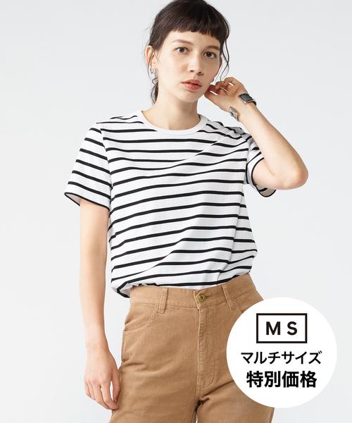 細ボーダーTシャツ[WOMEN]