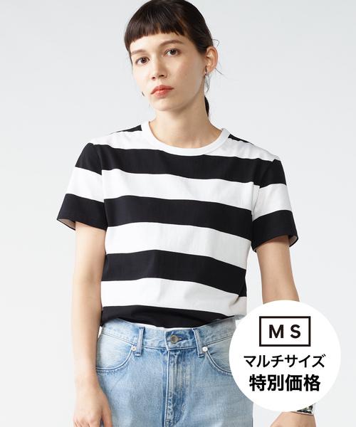 太ボーダーTシャツ[WOMEN]