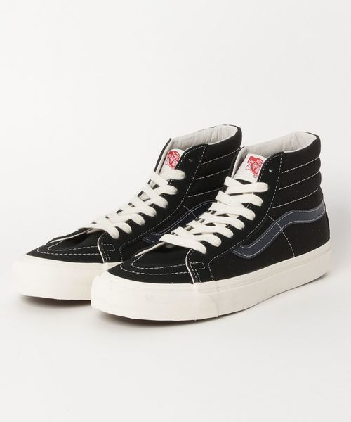 VANS ヴァンズ OG SK8-HI LX OG スケートハイ LX VN0A45JLVQP (SUEDE/CANVAS) BLACK/DRESS BLUE