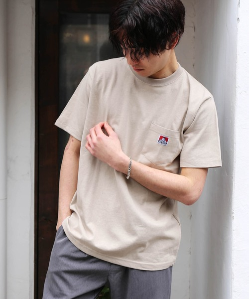 【BENDAVIS/ベンデイビス】ポケットTシャツ/クルーネック半袖シャツ/ゴリラロゴTシャツ