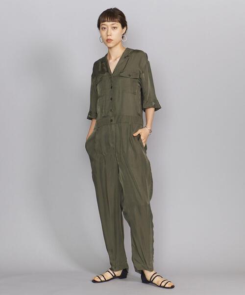 BY キュプラツイルジャンプスーツ