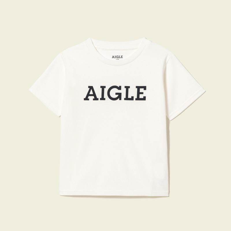 キッズ・ベビー 吸水速乾 ロゴ Tシャツ WHITE (001)