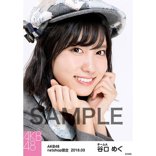 AKB48 2018年3月度 net shop限定個別生写真「ライトグレー制服」衣装II5枚セット 谷口めぐ