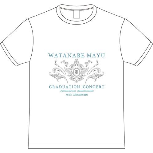 AKB48 渡辺麻友 オフィシャルグッズ Tシャツ ホワイト