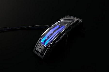「クリアレンズ」フリード/フリード スパイク(GB3/GB4) LEDウィンカーミラー レンズキット フットランプ付き 交換タイプ レンズカラー:クリア ライトバーカラー:ブルー