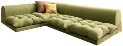 モスグリーン/Moffy Floor corner sofa フロアコーナーソファ ロータイプ フロアソファ コーナーソファ ソファ スエード シンプル スタイリッシュ