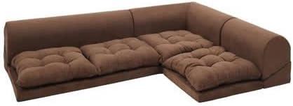 ブラウン/Moffy Floor corner sofa フロアコーナーソファ ロータイプ フロアソファ コーナーソファ ソファ スエード シンプル スタイリッシュ