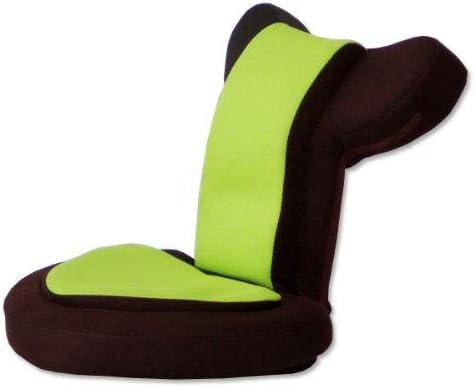 タンスのゲン 座椅子 ゲーム座椅子 低反発 メッシュ 14段 ゲーミングチェア リクライニング 肘掛け 座面51cm 高さ41cm バディー グリーンブラウン 1621000...