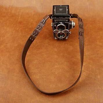cam-in調節可能なRealレザーショルダー/ネックストラップfor Rollei Rolleiflexカメラ – コーヒー色