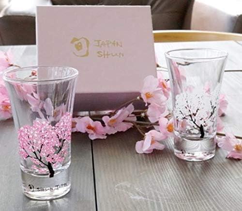 冷感桜 グラス天開ペアセット 丸モ高木陶器