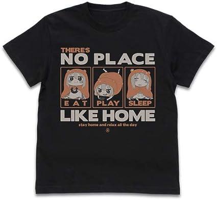 うまるちゃんR うまるのやっぱりおうちが一番 Tシャツ/BLACK-L