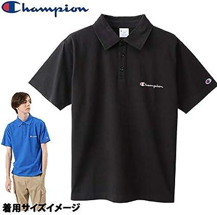 CHAMPION チャンピオン CHAMPION メンズ ポロシャツ C3-P306 ブラック 090 POLO BASIC ベーシックシリーズ 日本正規品