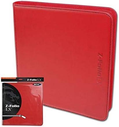 BCW プロ用 トレカファイル レザー調 12ポケット 480枚収納 (Red レッド)