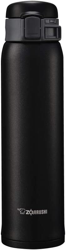 象印マホービン(ZOJIRUSHI) 水筒 ステンレス マグ ボトル 直飲み 軽量 保冷 保温 ワンタッチ オープン タイプ 600ml マット ブラック SM-SE60-BZ