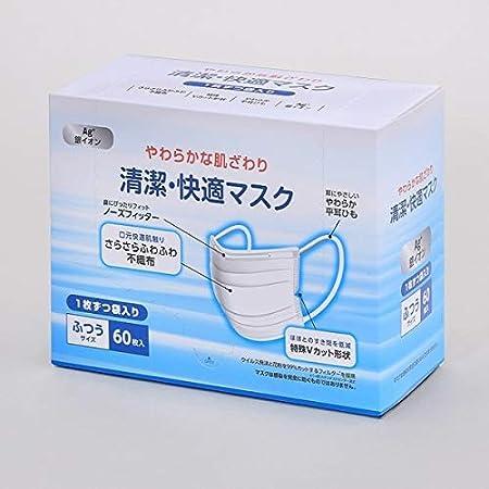 アイリスオーヤマ 清潔・快適マスク ふつうサイズ 60枚入