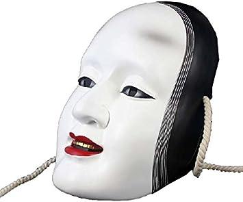 日本の能マスク 長さ11インチ 日本人形 アジアン人形