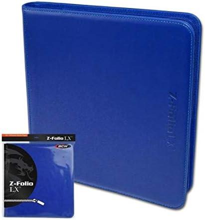 BCW プロ用 トレカファイル レザー調 12ポケット 480枚収納 (Bule ブルー)