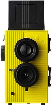 【blackbird, fly(イエロー)】35mmフィルム仕様の2眼レフ広角レンズでビビッドで美しい写り。ホルガロモなどのトイカメラファンも必見のブラックバードフライです。