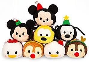 "Rare Disney Store Exclusive Mini "" Tsum Tsum "" ( Japan )スタッカブルPlush featuring Holiday M..."