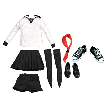 B Blesiya 1/6スクール セーラー服 ドール制服 ドール靴 12インチアクションフィギュア用