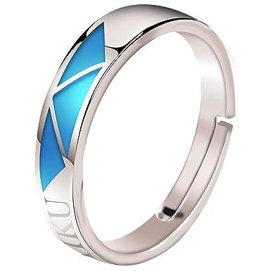 Xcoser 五等分の花嫁 925銀 指輪 三玖 一花 ニ乃 四葉 五月 リング 夜光