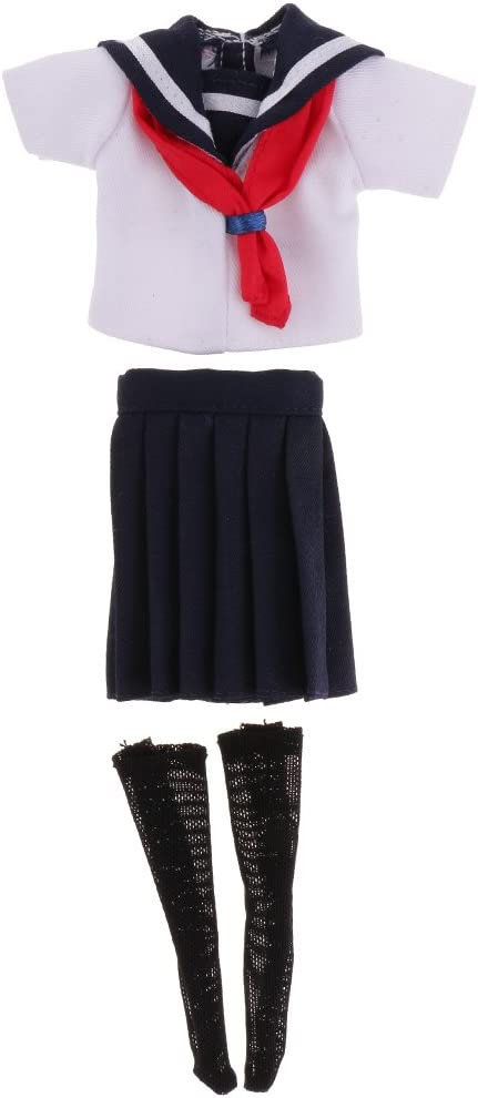 Lovoski 人形 シャツ ミニスカート ストッキング セット 学校 ユニフォーム 12インチブライスドール適用 装飾