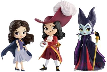 Disney Character Q posket petit Villains Ⅱ フィギュア 全3種セット 【ヴァネッサ/フック船長/マレフィセント】