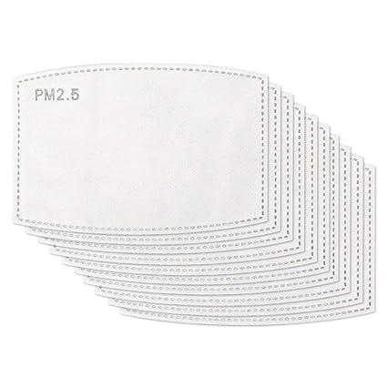 Sitrda 活性炭呼吸フィルター抗PM2.5交換可能な5層アンチヘイズフィルター防護フィルター (50枚入)