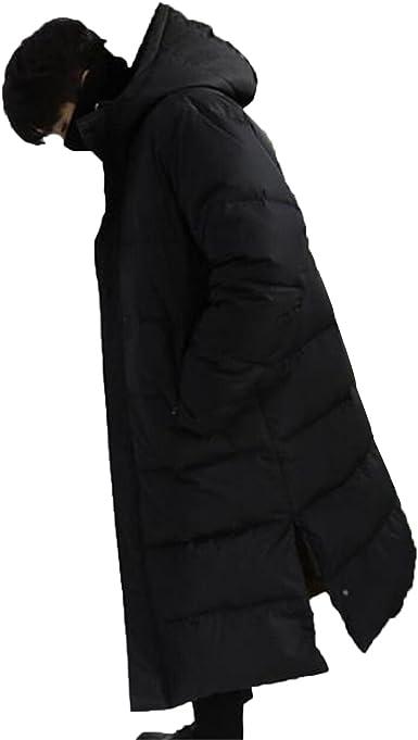 JIANGWEI ダウンコート メンズ ダウンジャケット フード付き 超ロング 厚手 防風 防寒 暖かい アウラー カッコイイ 無地 ゆったり お出かけ アウトドア ファッション