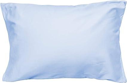 枕カバー 高級綿100% サテン織り 300本高密度生地 防ダニ 抗菌 防臭 ホテル品質 封筒式 滑らか 柔らかい ピローケース 選べる9色 4サイズ 43×63cm ライトブルー