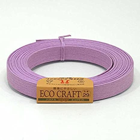 【ハマナカ】エコクラフト 15mm巾 12芯 5m 29番色 藤