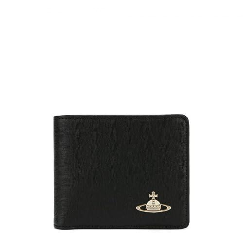 [ヴィヴィアンウエストウッド VivienneWestwood] メンズ 二つ折り財布 SAFFIANO 51040016 黒 BLACK [並行輸入品]