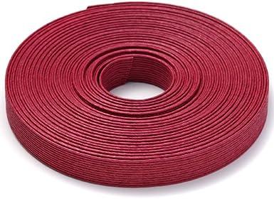 手芸用エコクラフトテープ 赤ワイン 50m巻 幅15mm 12芯