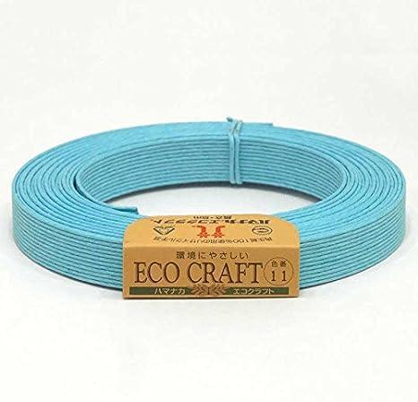 【ハマナカ】エコクラフト 15mm巾 12芯 5m 11番色 水色