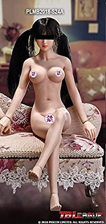 TBLeague1/6スケール 最新アジアン スレンダーショットタイプ 超柔軟性シームレス女性素体 ペールスキン(白肌色) バストサイズM PLMB2018-S24A [アダルト]