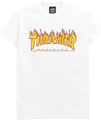 THRASHER T-SHIRT スラッシャー Tシャツ FLAME(US企画) スケートボード スケボー