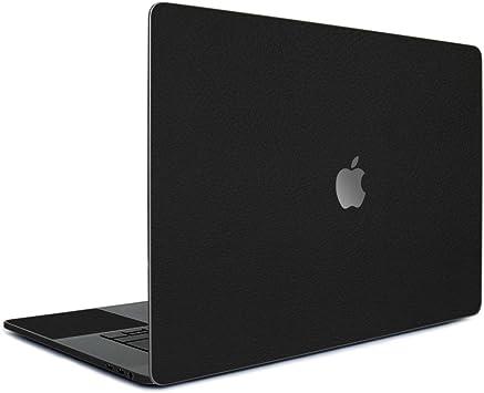wraplus for MacBook Pro 13 インチ 2019 2018 2017 2016 対応 [ブラックレザー] スキンシール フィルム ケース カバー