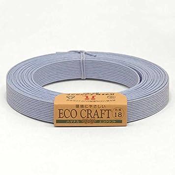 【ハマナカ】エコクラフト 15mm巾 12芯 5m 18番色 パステルブルー