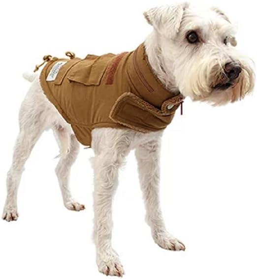 (マンダリンブラザーズ) MANDARINE BROTHERS WRAP JACKET ニュータイプジャケット 犬 裏起毛 秋冬 ジャケット ドッグウエア (S, CAMEL)