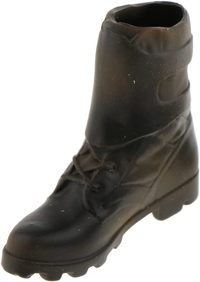 Baoblaze 1ペア 1/6スケールブーツ ドール用 ブーツ シューズ 靴 人形用 衣装飾り 12インチアクションフィギュアのため ロングブーツ 選べる - アンクルブーツ#1