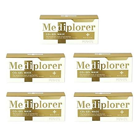 【5個セット】メディオン メディプローラーCO2ジェルマスク フェイスパック 塗布タイプ 6回分