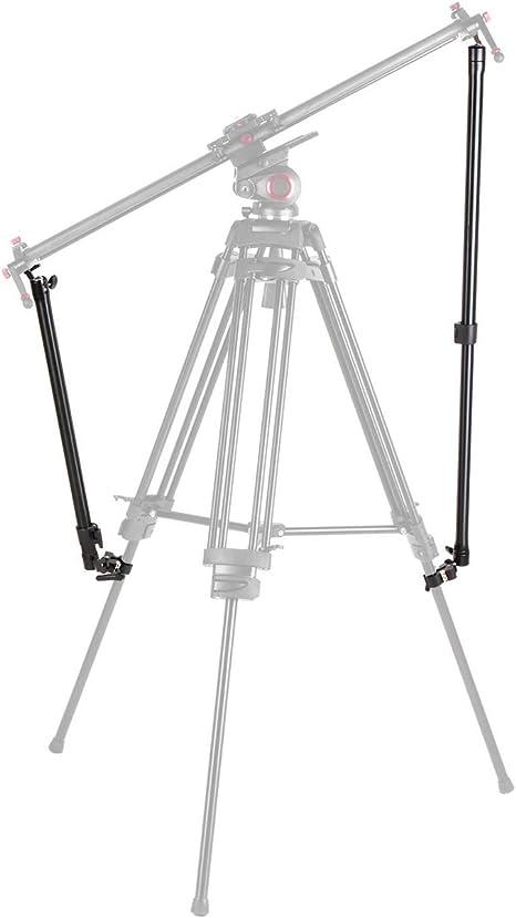 2パック サポートロッドスタビライザーアーム カメラビデオスライダーと三脚を接続 1/4インチねじとクランプで安定 長さ360度回転
