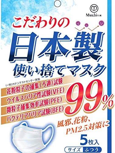 マスク 日本製 使い捨てマスク 【国内在庫あり】 普通サイズ 三層構造 男女兼用 (10枚入り)