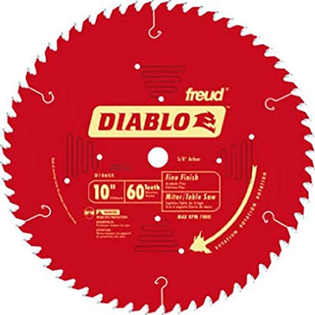 """Diablo Carbide Tipped Table, Miter, And Radial Arm Saw Blade-10"""" 60T SAW BLADE (並行輸入品)"""