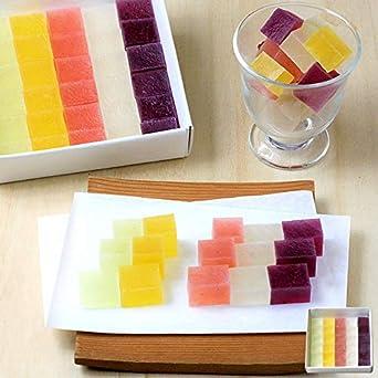お中元 御中元 ギフト 和菓子 フルーツ琥珀 果乃菓(かのか) 30個入 (1セット)琥珀糖