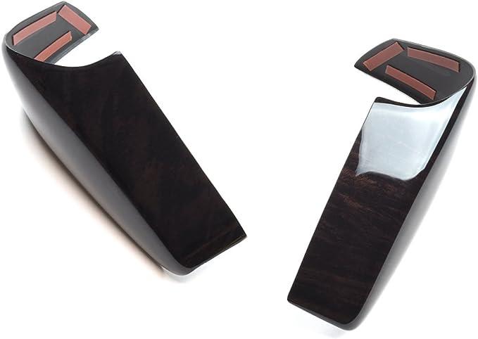 SecondStage キャラバン NV350 ステアリングパネル ステアリングスイッチ無し専用 黒木目2 SHN0103KW2