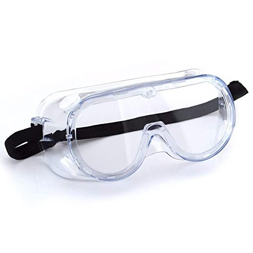 Cangad セーフティゴーグル 保護メガネ セーフティ眼鏡 ワイドビュータイプ 眼鏡の上から掛けれるゴーグル 高品質 防曇 レスキューモデル 透明 優れた防護性
