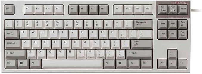 東プレ REALFORCE R2 TKL キーボード テンキーレス 英語配列87キー ALL30g かな無し 静音モデル(アイボリー)リアルフォース R2TLS-US3-IV