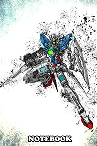 """Notebook: Gundam Exia Ignition Mode , Journal for Writing, College Ruled Size 6"""" x 9"""", ..."""